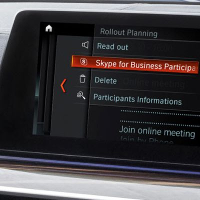 Skype for Business intégré à iDrive de BMW