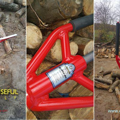 Outil fendeur de buches SPLITZ-ALL : fendre des buches de bois en petit bois et bois de chauffage - Innovant - Génial