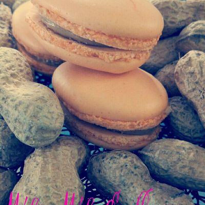 Macaron beurre de cacahuète ( avec ou sans thermomix )