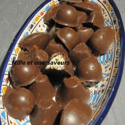 Bouchée au chocolat façon bounty.