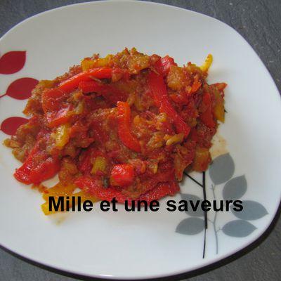 Salade d'aubergines à la tomate et aux poivrons