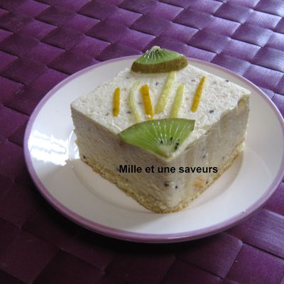 Bavarois confiture d'orange, citron, kiwi et gingembre