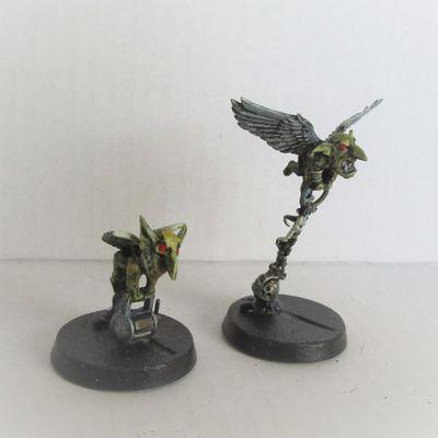 Conversion d'angelot space marine et sœur de bataille en … grot volant