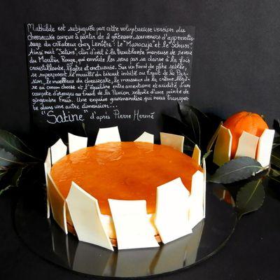 SATINE d'après Pierre Hermé : orange, fruit de la Passion, cream cheese