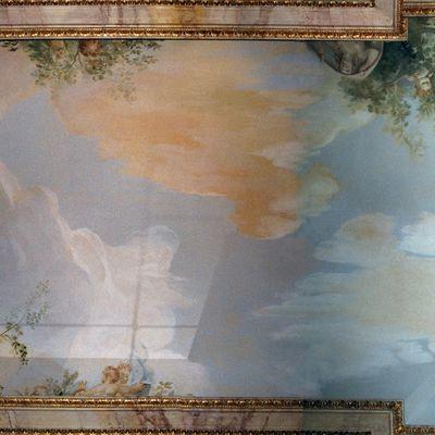 Ciel peint avec personnages
