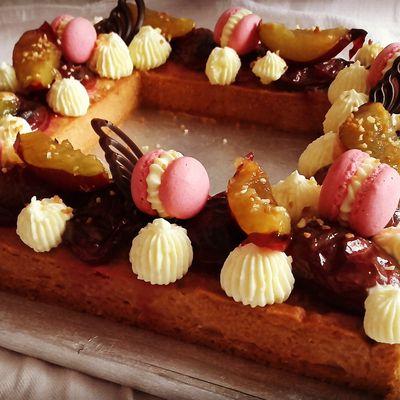 Tarte aux prunes rôties et vanille