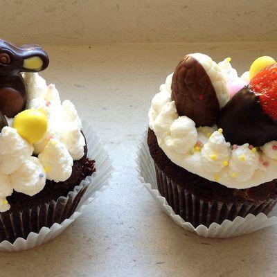 muffins très chocolat pour Pâques
