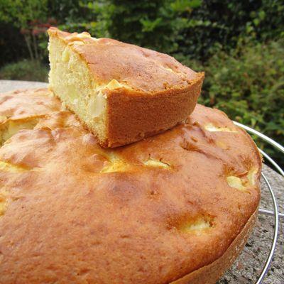 Gâteau yaourt, pommes & Calva