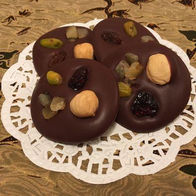 Mendiants au chocolat
