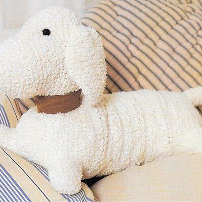 Caniche en tricot -laine bouclée