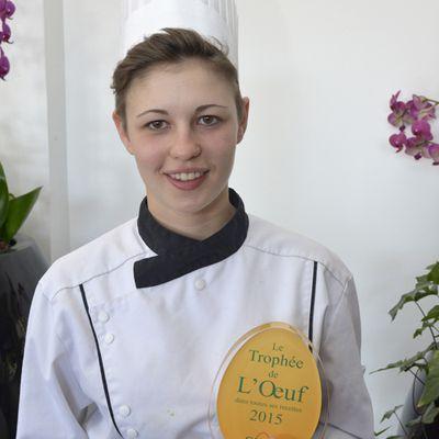 Albane Auvray, lauréate du Trophée de l'Œuf 2015 sélectionnée pour Objectif Top Chef sur M6!