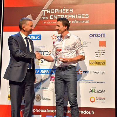 Trophée des entreprises de Côte d'Or pour l'Association GREN !