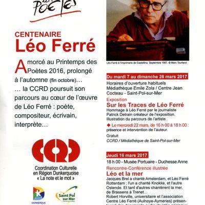 Léo Ferré célébration de son centenaire