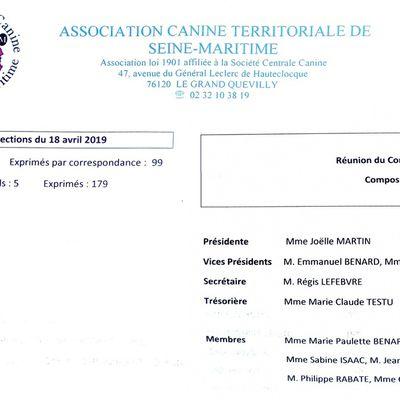 News de l'AG ACTSM 2019