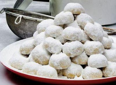 les petites recettes du blog : Kourabiedes - petits gâteaux grecs