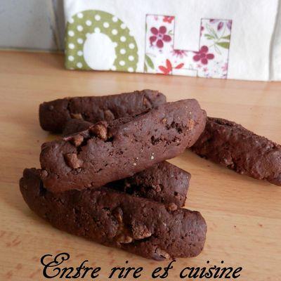 Fingers cookies cacao-chocolat à la farine complète