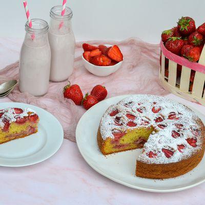Moelleux aux fraises
