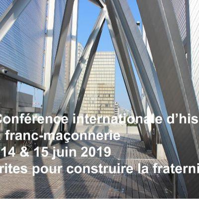 LA IIIE CONFÉRENCE INTERNATIONALE D'HISTOIRE DE LA FRANC-MAÇONNERIE