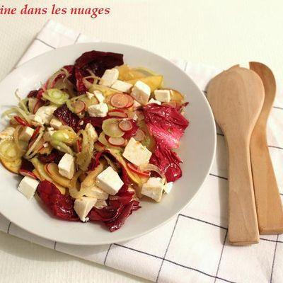 Salade de fenouil, radis, pomme, trévise et manouri