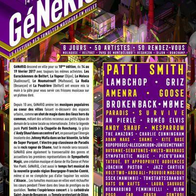 Festival GéNéRiQ: 10ème édition / CHANSON MUSIQUE / ACTUALITE