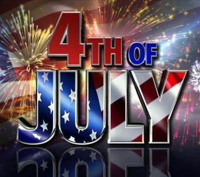 Le 4 juillet. Jour de l'Indépendance des Etats-Unis d'Amérique.
