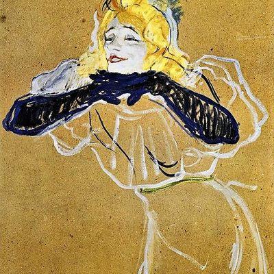 Yvette Guibert à Montmartre