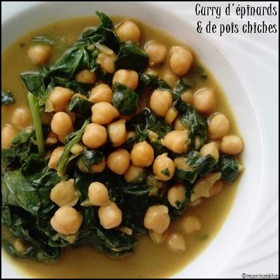 Curry de pois chiches et d'épinards