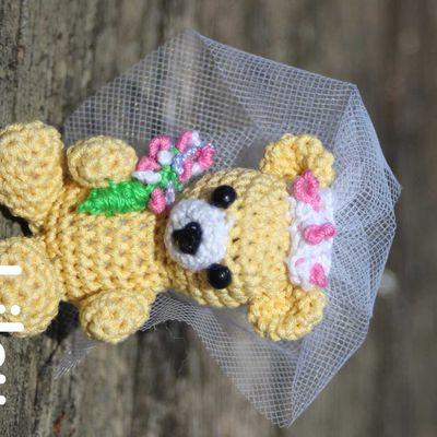 Ours mariés crochet DIY modele tuto gratuit