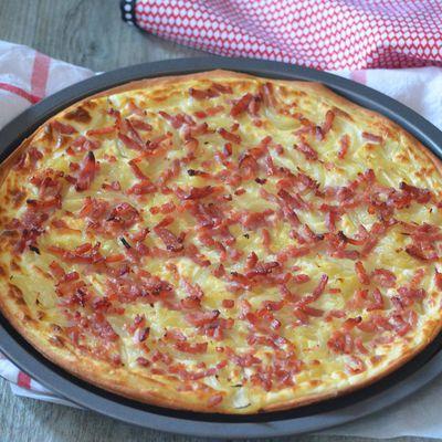 Flammekueche ou tarte flambée alsacienne