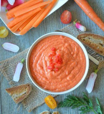 Dip aux poivrons rouges et haricots blancs {vege}