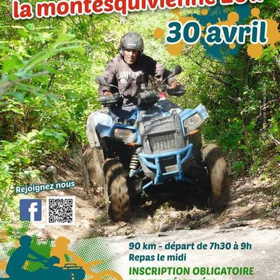 Rando quad et moto La Monstequivienne (82), le 30 avril 2017
