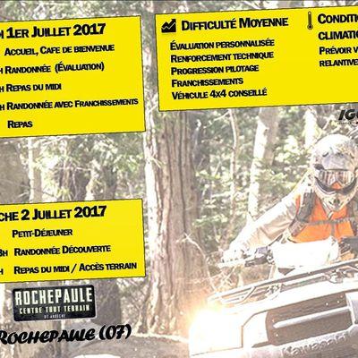 Weekend Quad L'éstivale à Rochepaule (07), le 1 et 2 juillet 2017