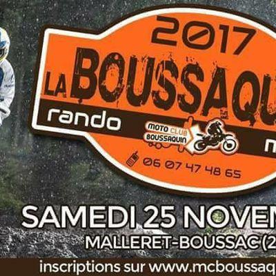 Rando la Boussaquine à Malleret-Booussac (23), le samedi 25 novembre 2017