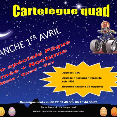 Rando moto, quad et SSV de Cartelègue Quad (33),...