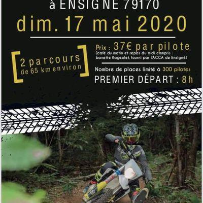 1 ère rando moto du Brioux Moto Verte le 17 mai 2020 à Ensigné (79)