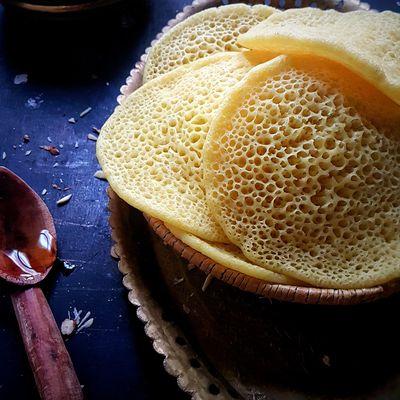 Baghrir ou crêpes aux mille trous à l'orange