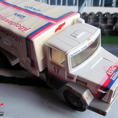 CAMION IVECO 4X4 190 PAC RALLYE TRANSAFRICA 1980 SOLIDO 1/43.