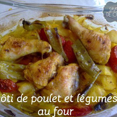 Rôti de poulet et légumes.