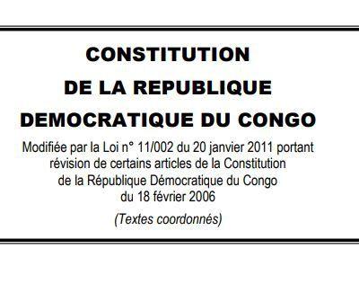 Constitution de la RD Congo, extraits des Droits du citoyen... A s'approprier