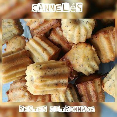 MINI CANNELES AUX RESTES DE CITRONNADE