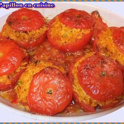 Recette: Tomates farçies façon riz paëlla