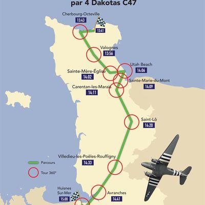 #75E - #DDAY - Le survol de la Voie de la Liberté dans la Manche par des Dakotas C47 reprogrammé au 9 juin ! Détails et horaires