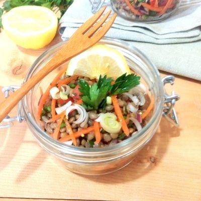 Salade de lentille aux zestes de citron