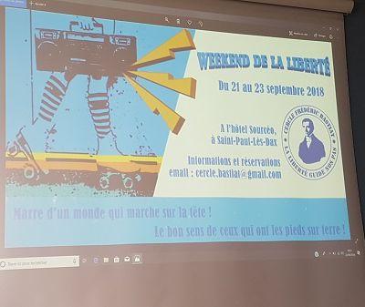 9e Week-End de la Liberté du Cercle Frédéric Bastiat, à Saint-Paul-lès-Dax
