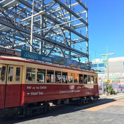 Promenade dans le centre de Christchurch ~ Voyage en famille en Nouvelle Zélande