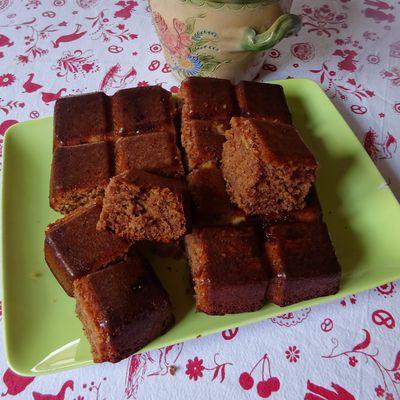Gâteau moelleux au yaourt et à la pâte à tartiner.