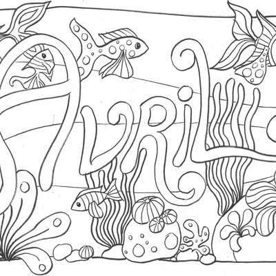 Coloriage d'avril 2020