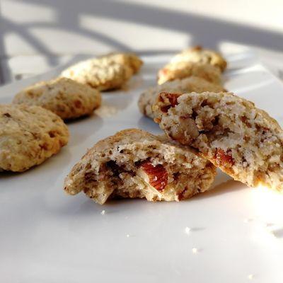 Biscuits moelleux aux flocons d'avoine / noix / amandes / noisettes