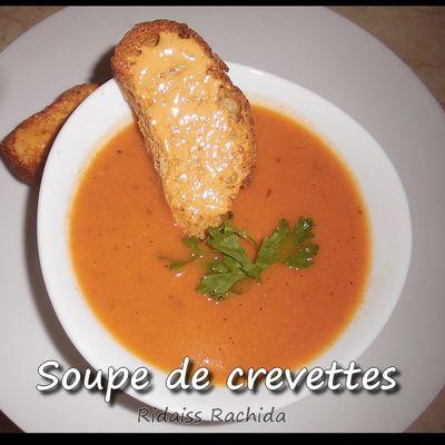 Soupe de crevettes et (sauce aïoli ou ailloli)