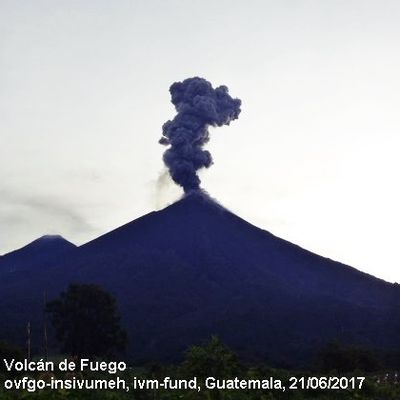 Activity of Fuego, Poas and Arenal.